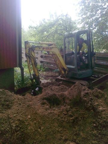 Maanrakennuspalvelut - Salaojien kaivuu